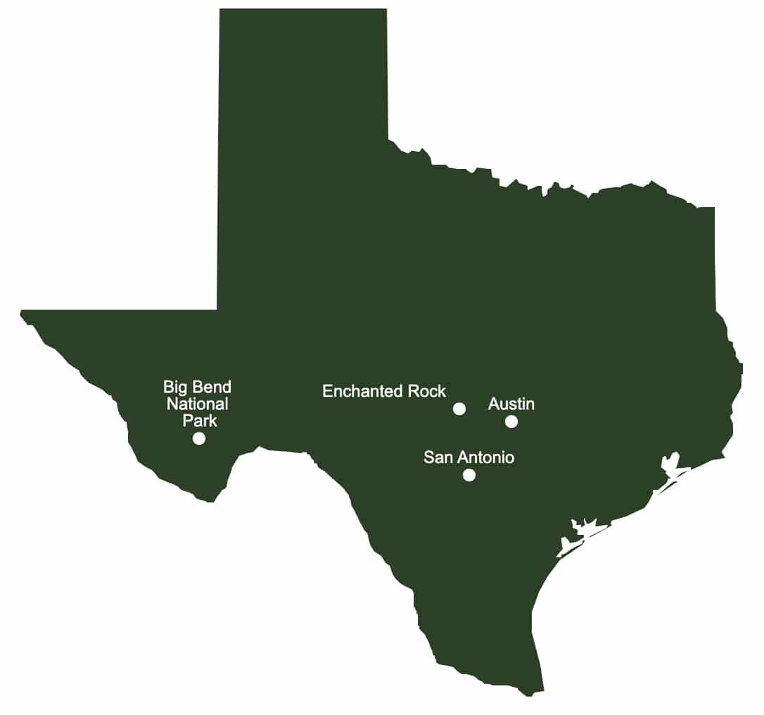 road trip au texas