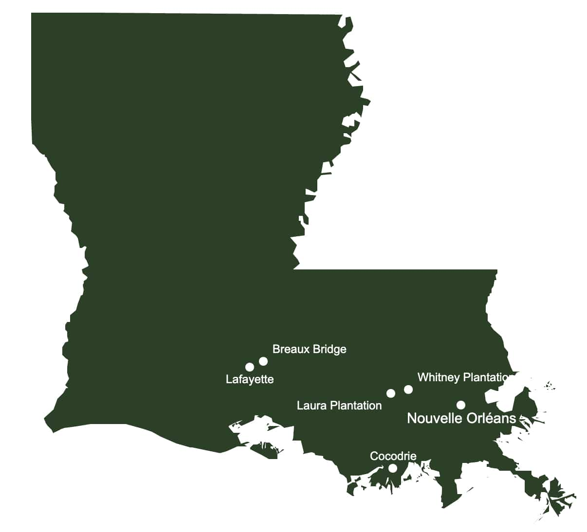 road trip en louisiane