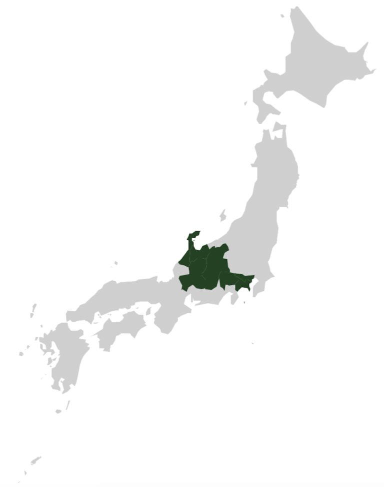 carte de notre road trip au japon