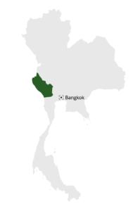carte province de thailande